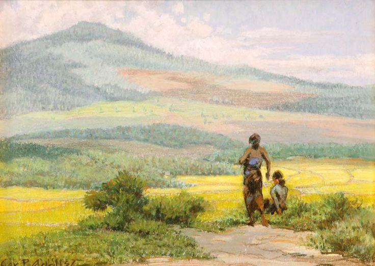 Gerard Pieter Adolfs (Semarang, 1899 – The Netherlands, 1968) - Landscape