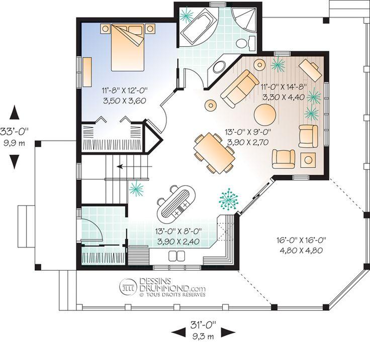 16 best Plan de maison images on Pinterest Future house, Small - plan maison etage m