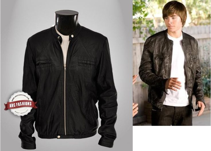 17 Again Jacket Leather Oblow Zac Efron Jacket by