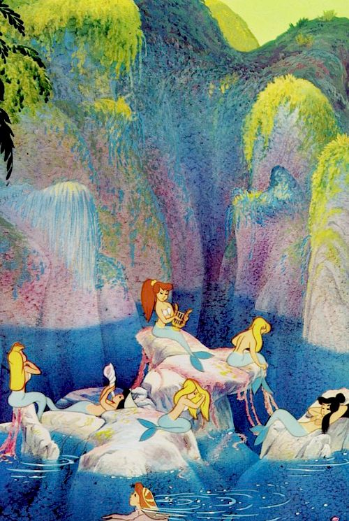 """I'll think of a mermaid lagoon, oh underneath the magic moon"""