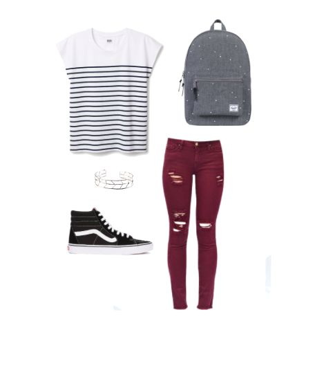 Cute back to school outfit, inspiration for teens