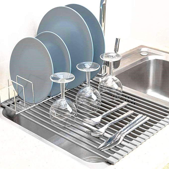 Sanno Foldable Dish Rack Over The Sink Multipurpose Roll Up Dish