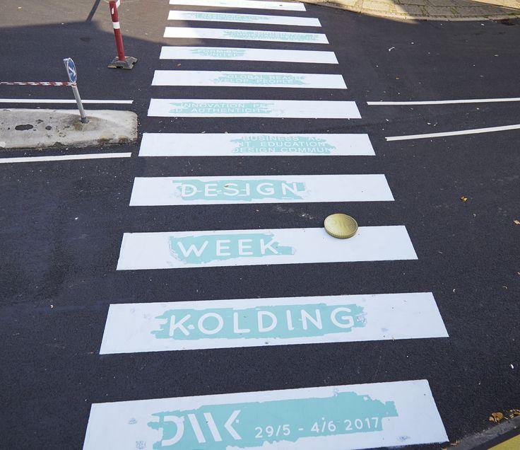 Crosswalk in Kolding, Denmark 2016  #design #marketing #guerilla #Designweekkolding #kolding #citymarketing
