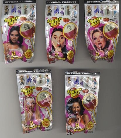 Spice Girl Fantasy Ball Lollipops  (remember those stickers?!)
