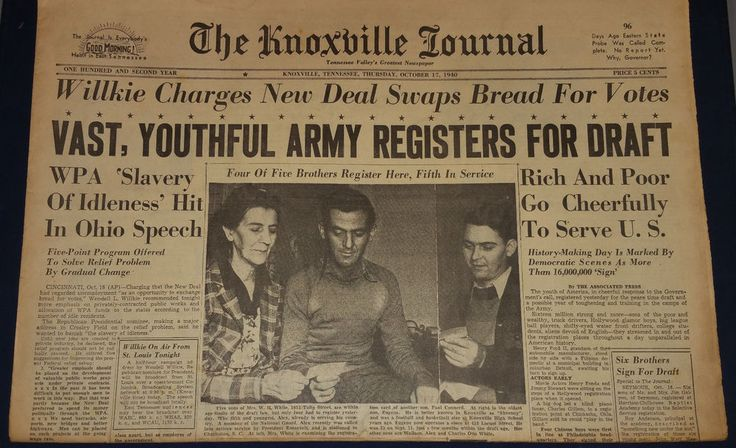 october 17 1940  knoxville journal ,Youth army Registers to vote.