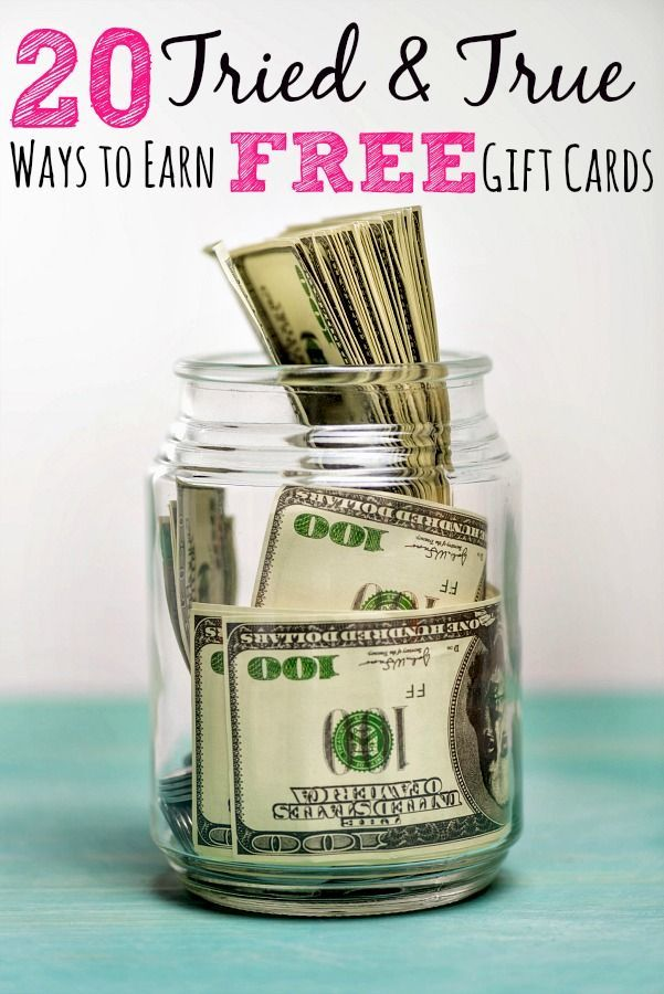 Ways to earn free gift cards online - Tired of struggling with your family budget? Using gift cards can help! These 20 ways to earn free gift cards are tried & true ways to help you save money!