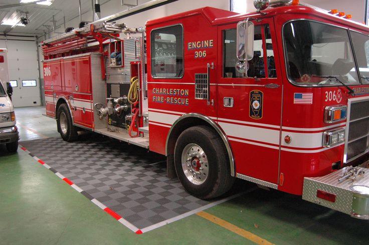 Firetruck!!!!!!!!!!! #GarageFlooring