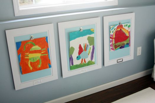 Display kids artwork easily
