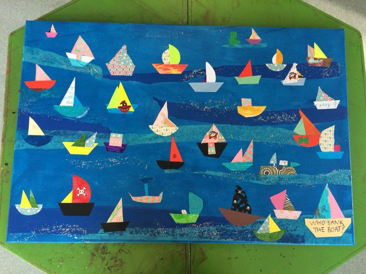 """Latest science painting - """"who sank the boat"""""""