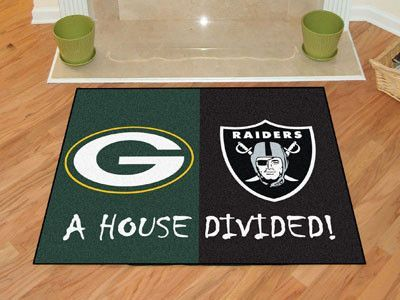 Show everyone that your house is divided by die-hard fans of these two rivaling teams. House Divided Mats are made to last, they feature non-skid backing with serged borders for added durability. Mach