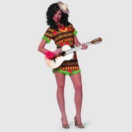 Mexicaanse Bandita -  Een kostuum bestaande uit een kort Mexicaans jurkje. Mocht een kostuum niet op voorraad zijn, dan is de levertijd ongeveer een week. Alle afgebeelde kostuums zijn exclusief accessoires. | www.feestartikelen.nl