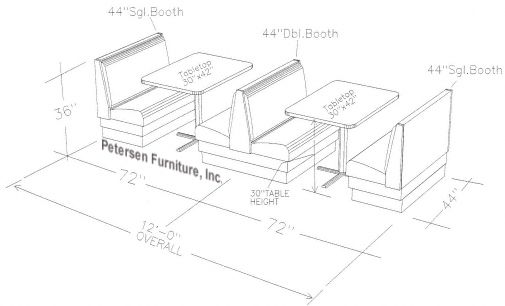 Single and Double Booth Spacing
