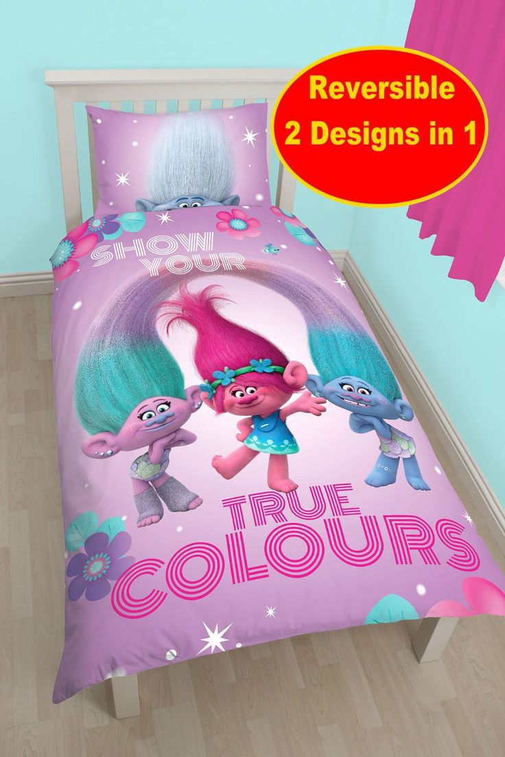 Trolls Bedroom Ideas: Details About NEW DREAMWORKS TROLLS GLOW SINGLE DUVET