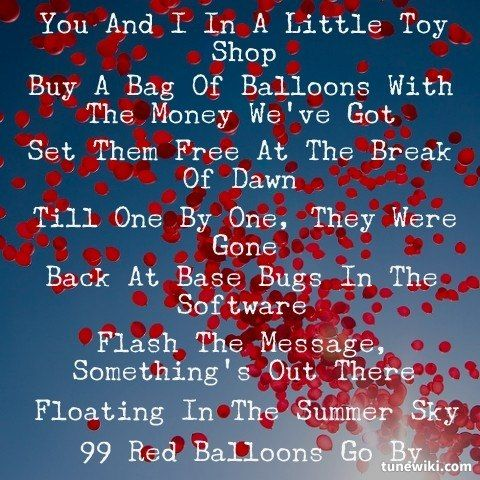 99 Red Balloons lyrics by Nena, 3 meanings. 99 Red ...