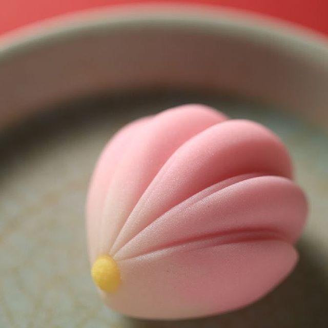 """今日の #和菓子 は #ねりきり で作った #菊 です。 ねりきりとは白餡に餅や芋を混ぜて作った和菓子で #茶道 で使われる「 #上生菓子 」の一種です。 #撮影 用に作成しました。 このお皿もお借りしてる椿窯製です。 Today's wagashi is black #chrysanthemum made with #Nerikiri. The Nerikiri is the material of wagashi made by mixing the rice cake and yam in white bean. Is a kind of """"Jounamagashi"""" as used in the tea ceremony. The sweets I've made for the shooting. #練切 #煉切 #wagashi #sweets #artist #art #出雲 #福泉堂 #三代目 #icu_japan #ig_japan #team_jp_  #loves_nippon #dessert #デザート #お菓子 #candy #Halloween…"""