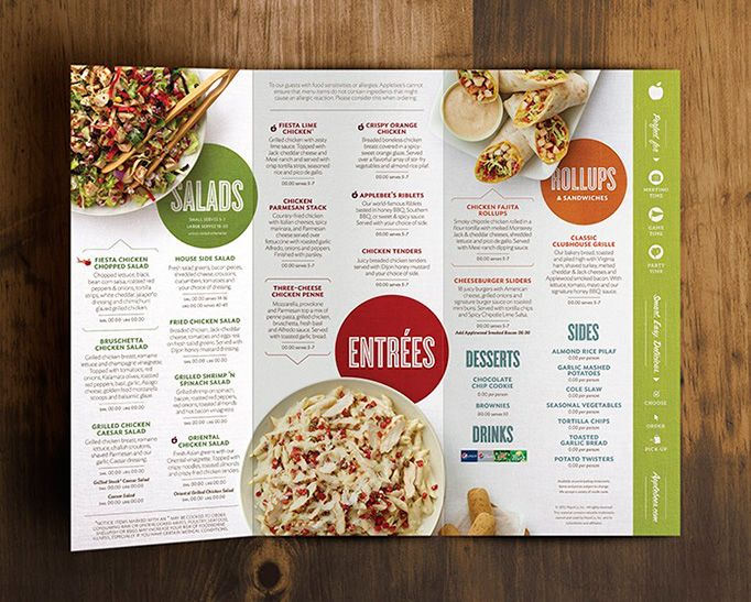 Applebee's new menu. Food probably still sucks, but the menu is a huge improvement