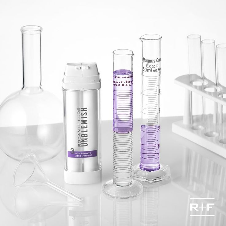 Q: What has two chambers and the perfect acne-fighting formula? A: UNBLEMISH Dual Intensive Acne Treatment! It's the real deal.