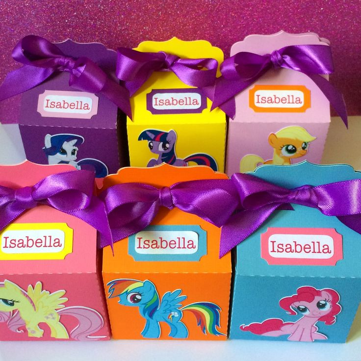 My Little Pony Party Personalized Favor Boxes / My by MiamiCrafts