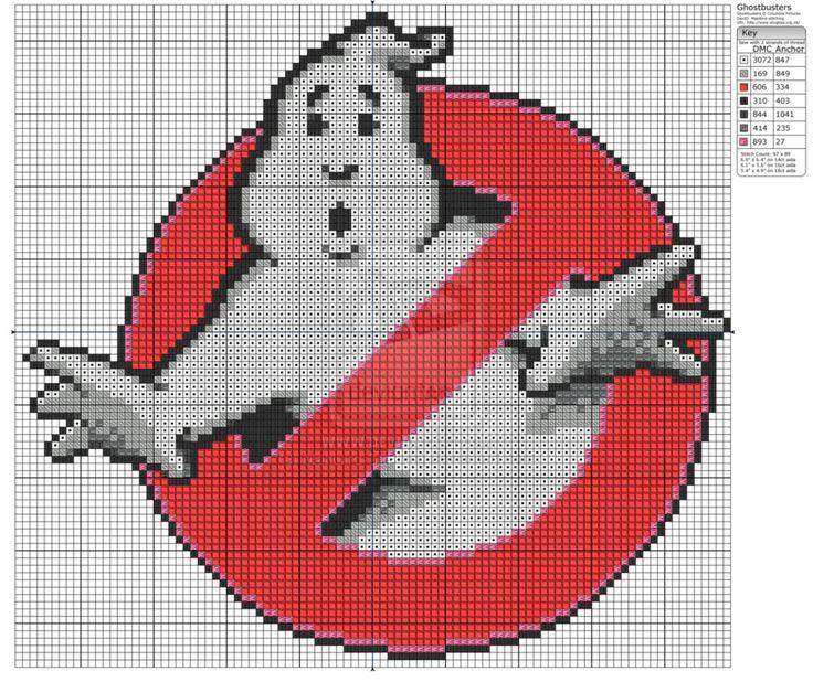 Free Cross Stitch Pattern Ghostbusters! by ~Makibird-Stitching on deviantART