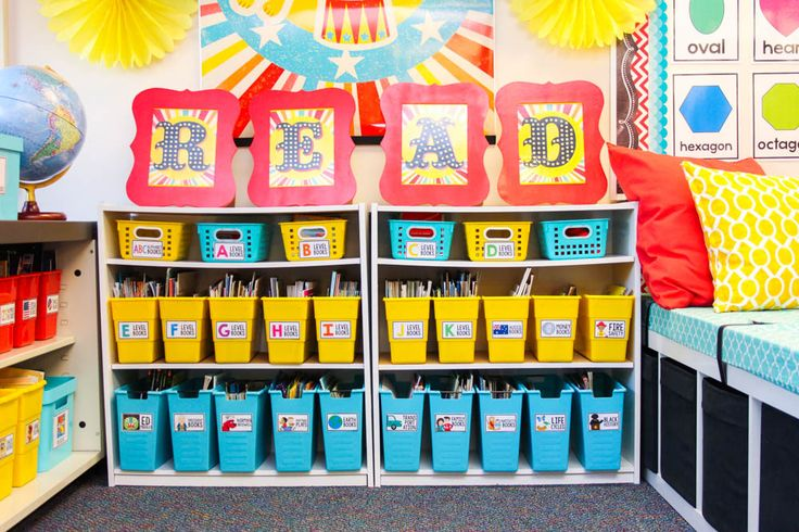vintage circus classroom library