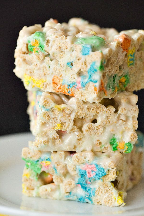 Lucky Charms Marshmallow Treats | Brown Eyed Baker - A Food & Cooking Blog | Bloglovin'