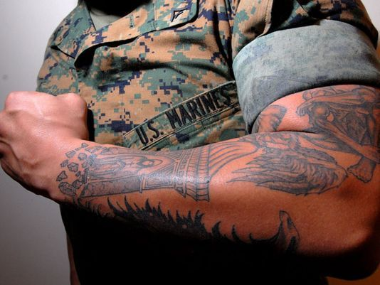 Best 25 usmc tattoo policy ideas on pinterest for Army tattoo policy wrist