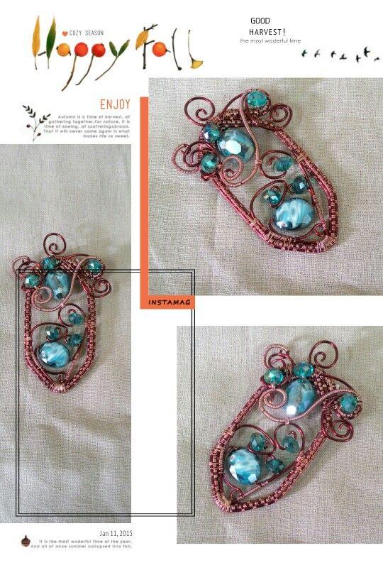 Wire jewelry - shield