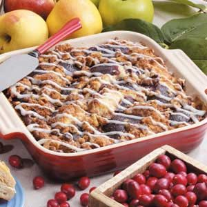 When you're snowed in and want to make a yummy breakfast with items on hand... Cranberry Coffee Cake Recipe