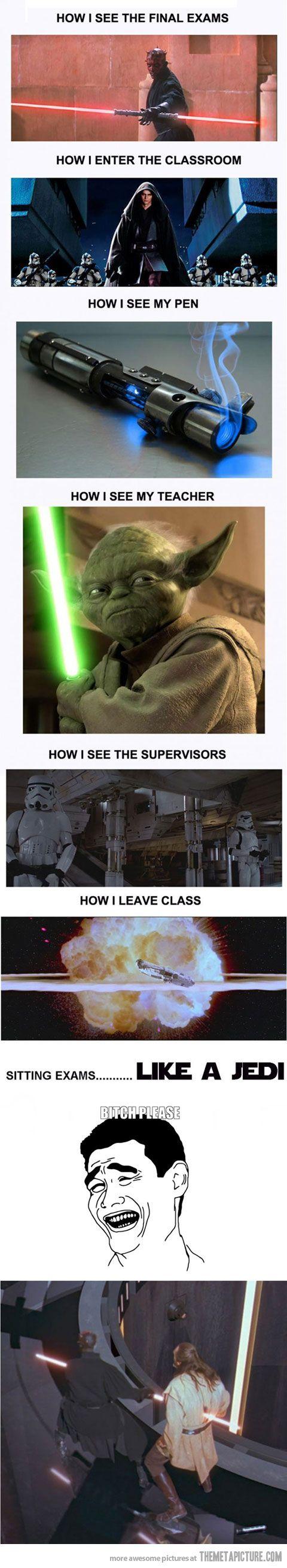 Sitting Exams Like a Jedi