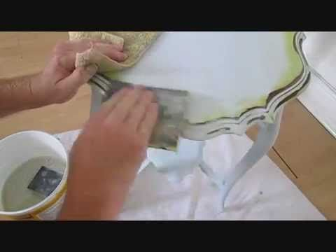 shabby chic, how to hand paint furniture, tutorial, step by step - YouTube