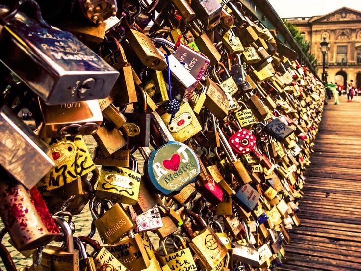 """Love Padlocks"" by João Sousa Pont des Arts, Paris, France"