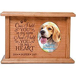 Cremation Urns for Dog, Memorial Keepsake box for Dogs and Cats, personalized Urn for pet ashes Once I held YOU in my arms Now I hold YOU in my HEART SMALL portion of ashes holds 2x3 phot