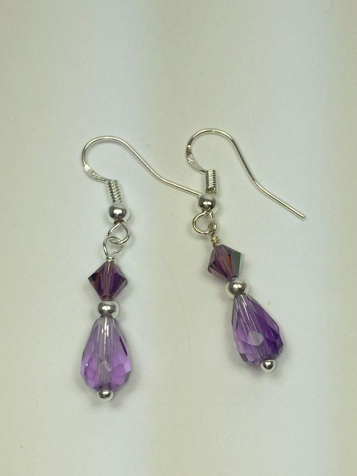 Amethysts drop earrings