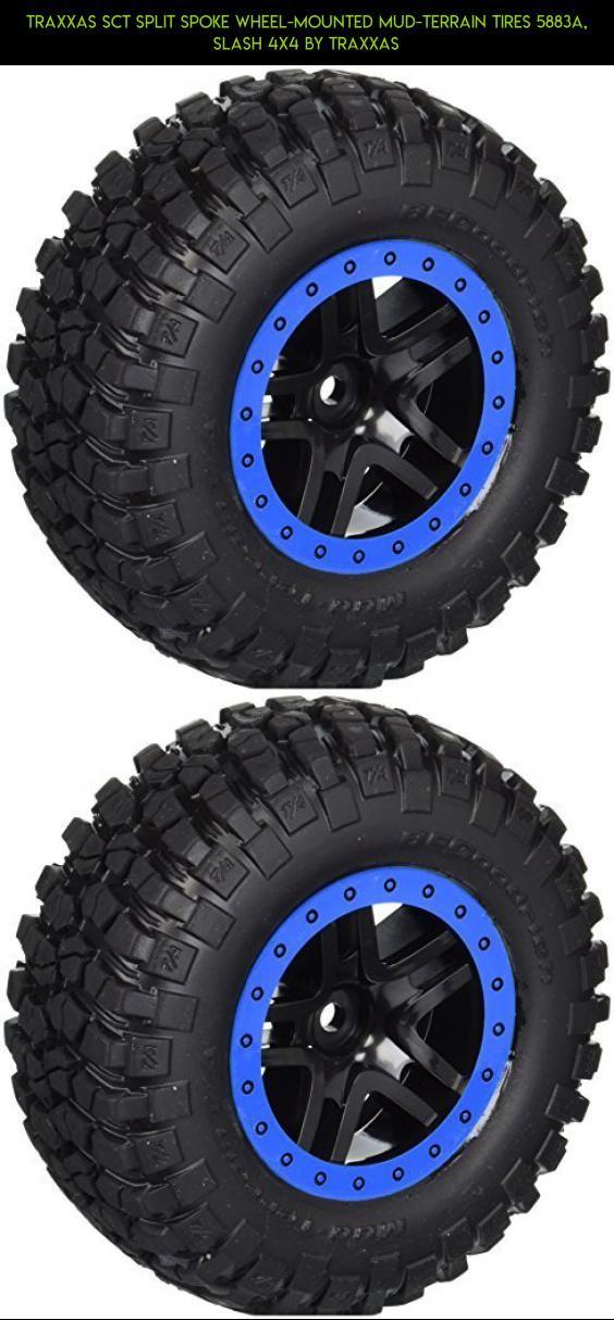 Traxxas SCT Split Spoke Wheel-Mounted Mud-Terrain Tires 5883A, Slash 4x4 by Traxxas #kit #fpv #drone #tech #tires #slash #parts #racing #4 #shopping #gadgets #technology #products #traxxas #plans #camera