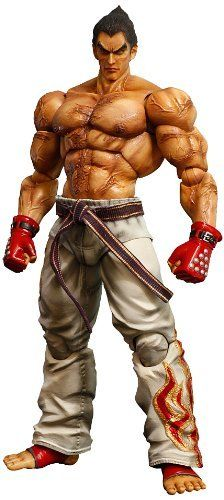 Square Enix Tekken Tag Tournament 2: Kazuya Mishima Play Arts Kai Action Figure by Square Enix. $48.74. Special display stand included. Interchangeable hand parts. Stands 10.1 inches tall. From the Manufacturer                From the latest installment in the Tekken franchise, TEKKEN TAG TOURNAMENT 2, come Kazuya Mishima and Jun Kazama, realized anew as action figures in the Play Arts -Kai- line. Beautifully sculpted and fully articulated, the delicate paint details ...