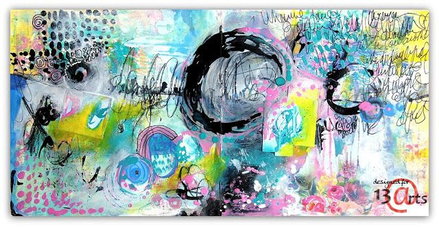 13arts: Abstract Art Journal Page | Fiona Paltridge