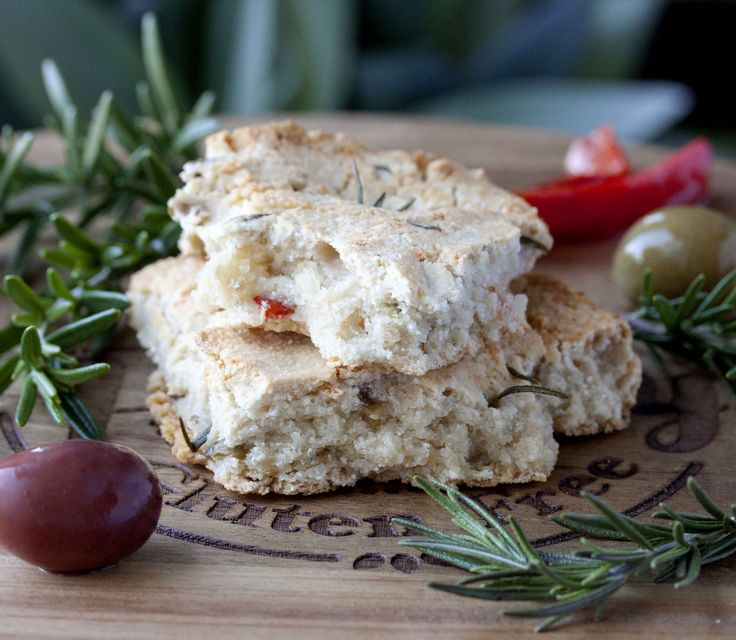Olive & Rosemary Focaccia - Paleo, grain free, gluten free, dairy free & vegan. Perfect with soups, stews or salads.