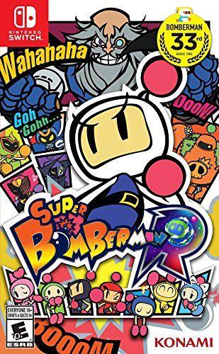 Super Bomberman R - Nintendo Switch Konami video game https://www.amazon.com/Super-Bomberman-R-Switch/dp/B01N9RAP7M/ref=as_li_ss_tl?s=videogames&ie=UTF8&qid=1484696796&sr=1-74&keywords=nintendo+switch&linkCode=ll1&tag=mypintrest-20&linkId=0a068ee494d4a3200a92a2d68443905f