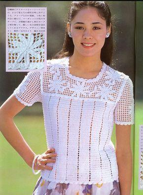 Uma blusa que em sua simplicidade transborda elegância...   Uma fofura de trabalho.           GRAFICO CLIQUE AQUI