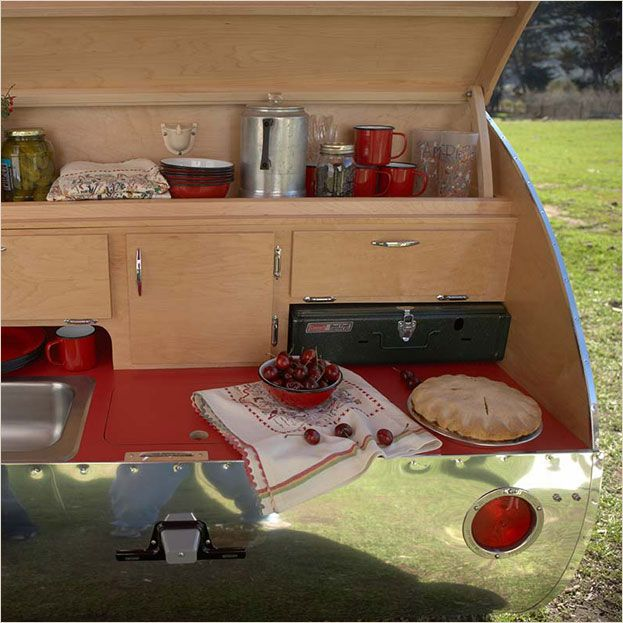 535 best images about teardrop camper ideas and designs on for Camp trailer kitchen designs