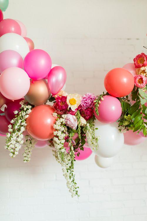 Flowers + balloons