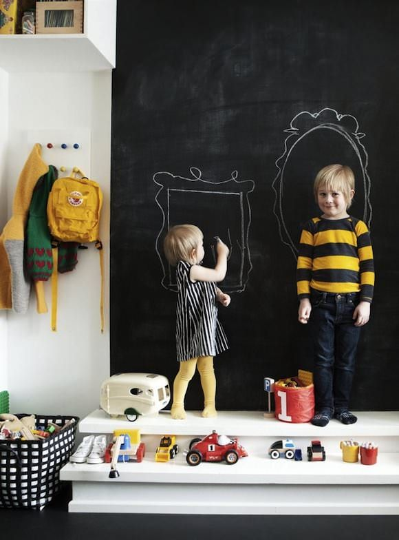 chalkboard wall in kids rooms: