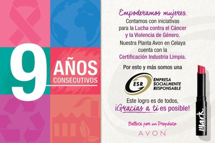 Avon es reconocido por 9 vez como Empresa Socialmente Responsable Magdalena Ferreira Lamas Responsabilidad Social Uncategorized México