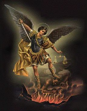 St. Michael, the Archangel,  Defend us in battle.  Be our protection  against the wickedness and snares of the Devil.  May God rebuke him, we humbly pray.  And do thou,  Oh Prince of the Heavenly Host,  By the power of God,  Cast into Hell,  Satan and all the other evil spirits  who prowl about the world,  seeking the ruin of souls.  Amen.