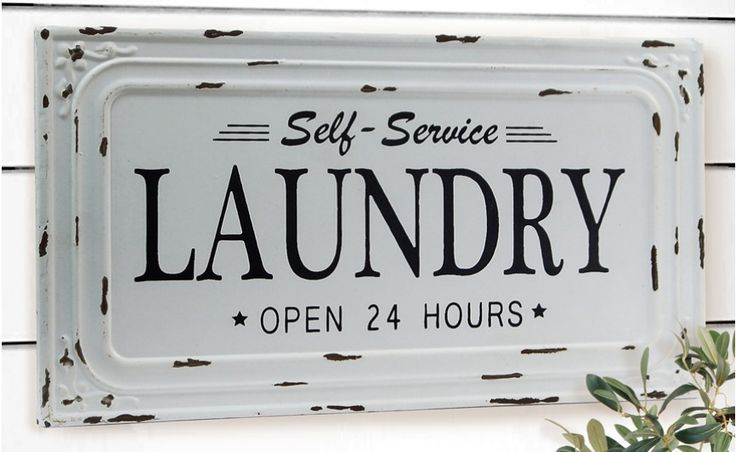 Laundry Room Signs, Laundry Room Plaques, Vintage Laundry Sign, Farmhouse Decor, Metal Laundry Sign, Laundry Co Sign, Laundry Room Decor, Wall Art, Wall Decor, Self Service Laundry Sign
