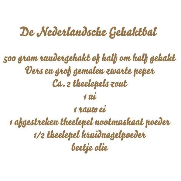 Recept Nederlandse gehaktbal