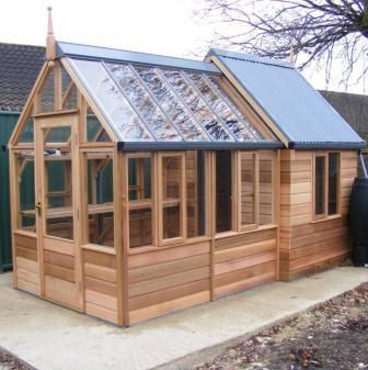 Garden Sheds With Greenhouse 192 best greenhouses images on pinterest | garden sheds, potting