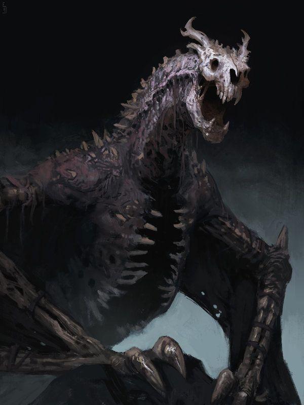 Undead dragon, Edward Delandre on ArtStation at https://www.artstation.com/artwork/digital-art-33e17f01-bb69-4fd3-a54d-5cc6b4755948