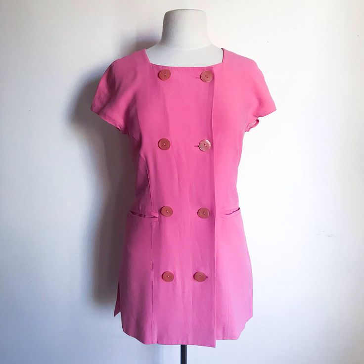 Vintage Dress. Guy Laroche 1970's Bubble Gum Pink Cap Sleeve Gogo Mini Dress. Retro Hipster Twiggy Fashion. Mod Girl Outfit. Size 8 by MarlaHomanCollection on Etsy https://www.etsy.com/ca/listing/568443600/vintage-dress-guy-laroche-1970s-bubble