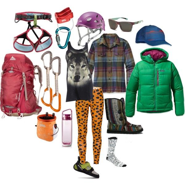 """Fall Rock-Climbing Kit"" by Sanuk adventure-seeker @Caroline Gleich. See her picks including her take on our new Flurry not-a-boot. #SanukStyle #polyvore"